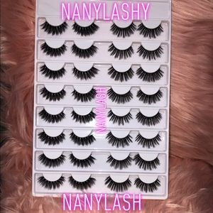 🦋🦋16 Pairs Faux Wispy Mink Lashes LashBook 🦋🦋